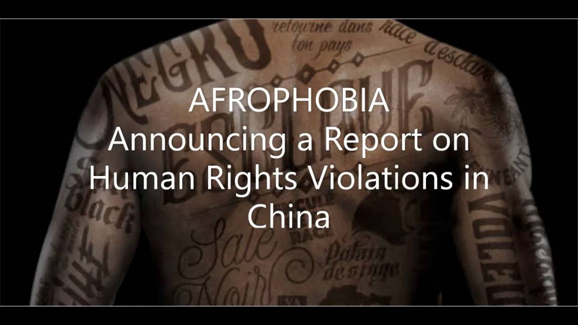 Video Press release : SOAD has decided to make a report on afrophobia in China